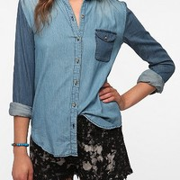 BDG Colorblock Chambray Shirt