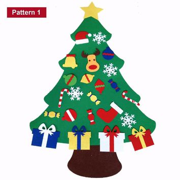 Christmas Tree Door Wall Hanging Preschool Craft Xmas Decoration with Ornaments