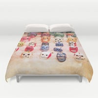Sugar Skulls Duvet Cover by Jenndalyn