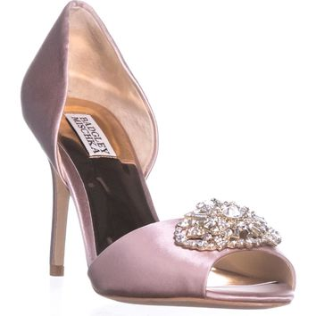 Badgley Mischka Dana Peep Toe Pumps, Blush, 9 US