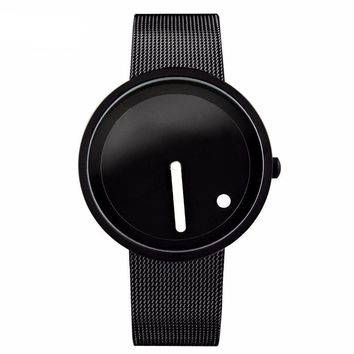 Cool Minimalist Style Dot and Line Design Men's Watch