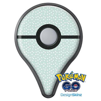The Mint and White Micro Polka Dots Pokémon GO Plus Vinyl Protective Decal Skin Kit