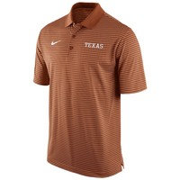 Nike Texas Longhorns Striped Stadium Dri-FIT Performance Polo