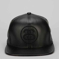 Stussy SS Link Faux-Leather Strap-Back Hat-