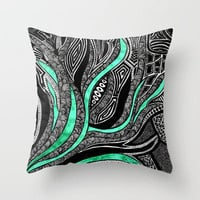 Reach Throw Pillow by Creative Chaos | Society6