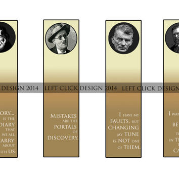 Irish Writers- Set of 4 Printable Bookmarks