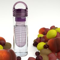 Infuser Water Bottle: Highly Durable BPA Free 24oz: Fruit Infused Water Bottle