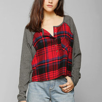 BDG Slumber Party Henley Top - Urban Outfitters