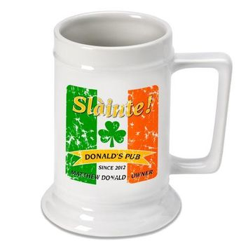16oz. Ceramic Beer Stein - Irish Pride