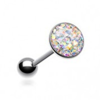 Multi-Sprinkle Dot Multi Gem Barbell Tongue Ring