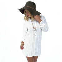 Splendid Chain Tunic Dress In Ivory