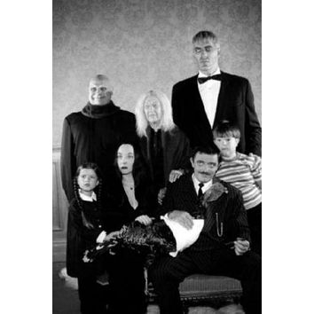 Addams Family poster Metal Sign Wall Art 8in x 12in Black and White