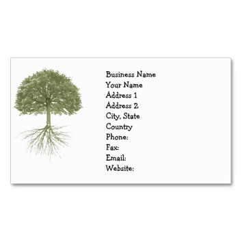 """Tree With Roots"" Elegant Business Cards"