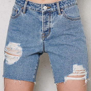 PacSun Bora Bora Ripped Denim Boyfriend Shorts at PacSun.com