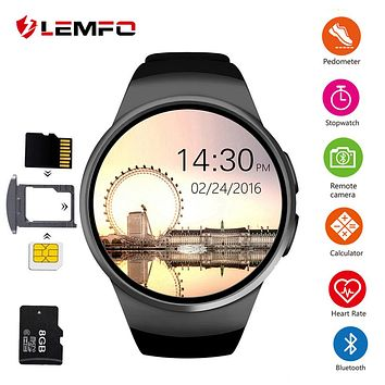 LEMFO KW18 Smart Watch Support SIM TF Card Bluetooth Call Heart Rate Pedometer Sport Modes Smartwatch For Android IOS