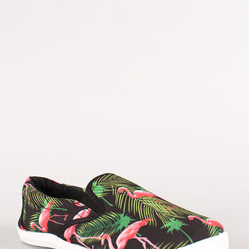 Wild Diva Flamingo Round Toe Slip On Sneaker