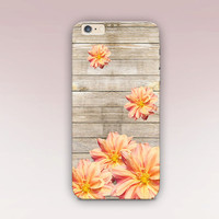Floral Wood Print Phone Case  - iPhone 6 Case - iPhone 5 Case - iPhone 4 Case - Samsung S4 Case - iPhone 5C - Tough Case - Matte Case
