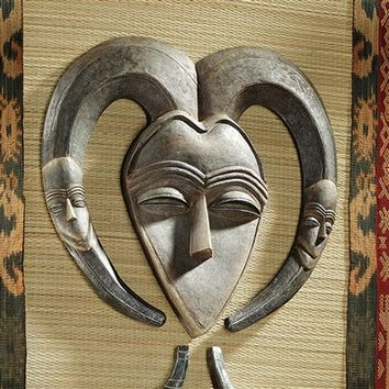 SheilaShrubs.com: African Tribal Wall Mask - Kwele EU34032 by Design Toscano: Wall Sculptures