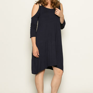 Everyday Cold Shoulder Dress- Maternity Friendly! - 3 Colors!