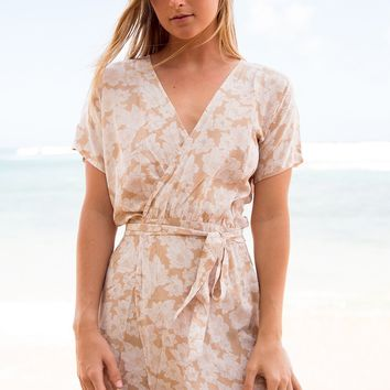 ACACIA Swimwear 2018 Rome Silk Wrap Dress in Naked Magnolia