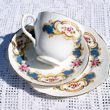 Vintage Queen Charlotte Fine Bone China Trio