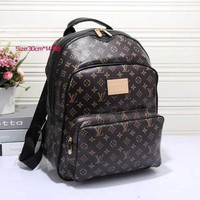 ONETOW Perfect LV Women Casual School Bag Cowhide Leather Backpack
