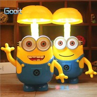 Minions Novelty Baymax Cartoon LED Night Light Baby Room Kids Bed Lamp Sleeping Night Lamp Decoration Table Lamp