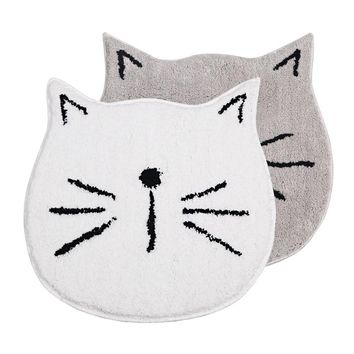 Autumn Fall welcome door mat doormat Cute Soft Cat  Floor Carpet Living Room Round Rug Table Anti-Slip  Home Decor tapis de cuisine shipping AT_76_7