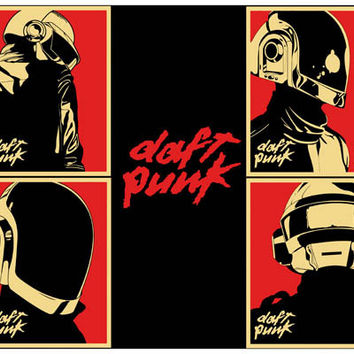 Daft Punk Pop Art Poster 11x17