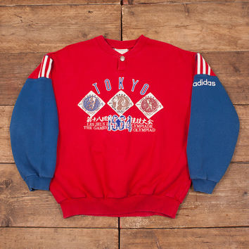 "Mens Vintage Adidas Olympic Sentential Collection 1964 Sweatshirt M 40"" R5326"