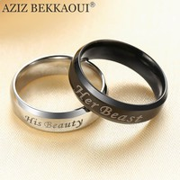 His/Hers Beauty and the Beast Wedding Bands