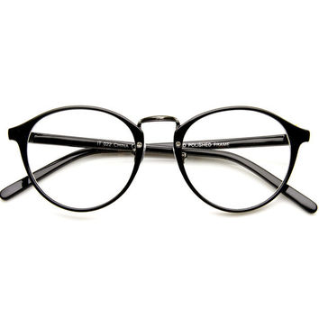 Fashion Clear Lens Round Glasse + Gift Box