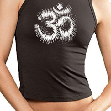 Yoga Clothing for You Womens Tie Dye OM Cropped Tank Top