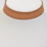 Leather Choker (Camel)