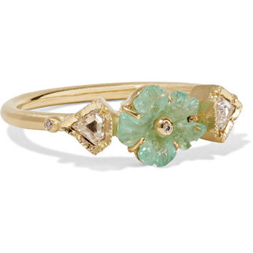 Brooke Gregson - Rivera Flower 18-karat gold, emerald and diamond ring