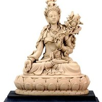 White Tara, Buddhist Goddess of Compassion and Longevity Statue, 5-3/4 Inch