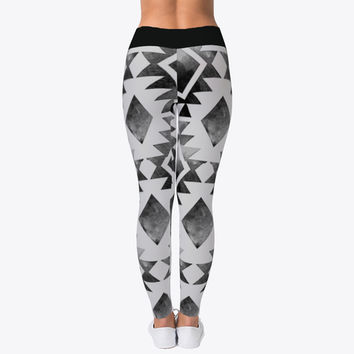 Parallel Abstract Leggings