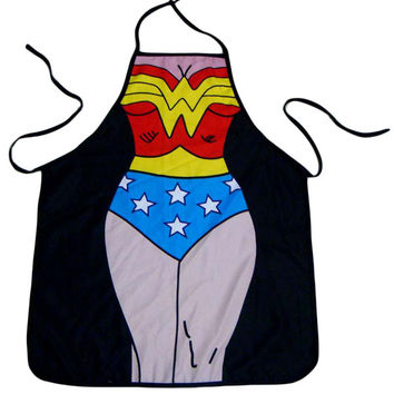 Wonder Woman  Cartoon Print  Apron