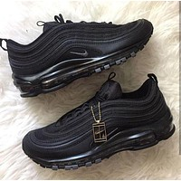 NIKE AIR MAX 97 Sport Shoes Fashion Casual Women Men Sneakers Running Shoes Black G