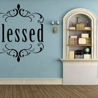 Blessed Christian Vinyl Wall Decal Gift