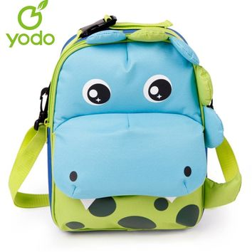 Yodo Kids Babys Bags 3D Dinosaur 3-way Toddler Backpack Anti-lost School Bags For Girls Boys Insulated Thermal Mochila Escolar