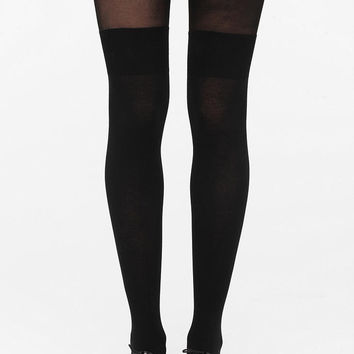 Urban Outfitters - Pretty Polly Over-The-Knee Secret Sock-Tight