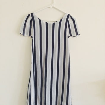 Reformation Navy Stripe Shift Dress