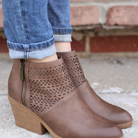 Let It Ride Booties - Taupe