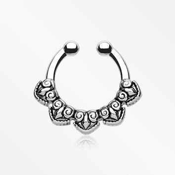 Tribal Penta Fake Septum Clip-On Ring