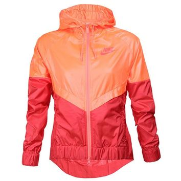 nike hooded zipper cardigan sweatshirt jacket coat windbreaker sportswear-7