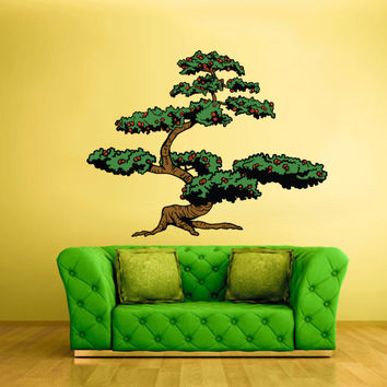 Full Color Wall Decal Mural Sticker Art Asian Japan Japanese Tree Branch Bonsai (col194)