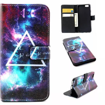 Go Away Galaxy Case Cover PU Leather Wallet for iPhone & Samsung Galaxy S6  iPhone 6s Plus