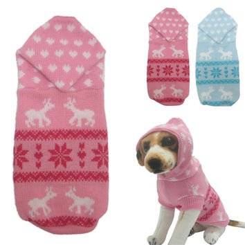 New Qualified Pet New pet dog sweater for autumn winter warm knitting crochet clothes for dog Levert Dropship dig6415