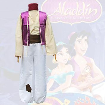 Children aladdin magic lamp cosplay costume halloween Cosplay for men carnival Dance fancy party Arabic aladdin costumes Kids